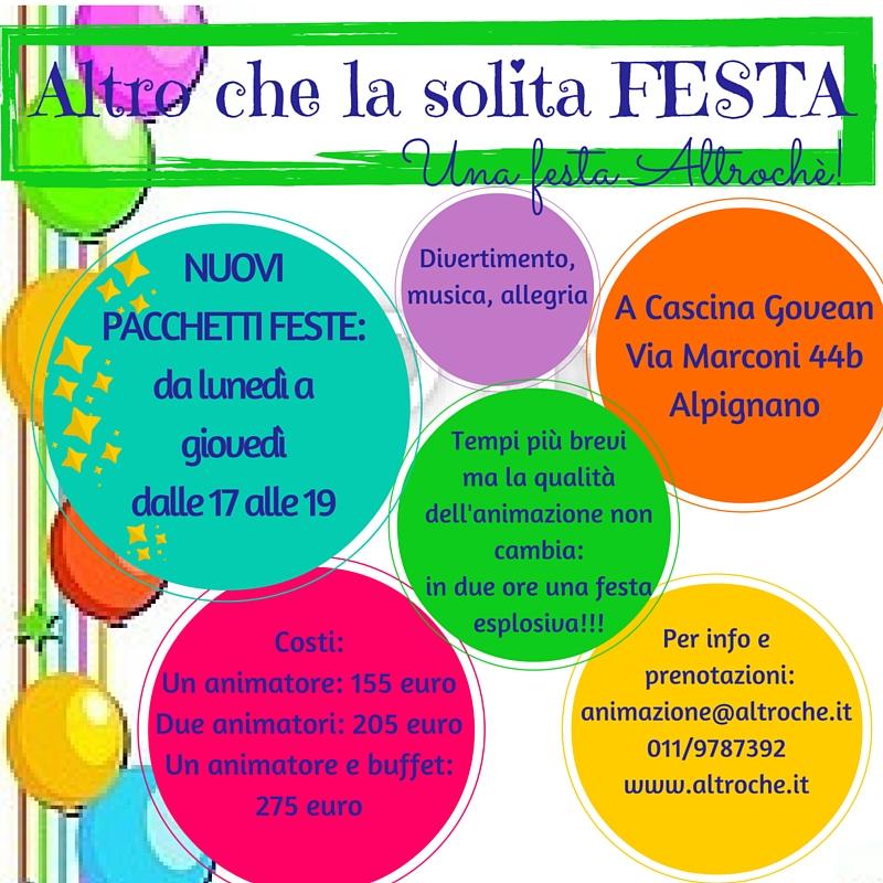Cooperativa Altroché Torino   Feste per bambini , Progetti
